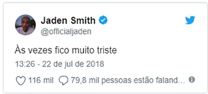 Jaden Smith Volta A Fazer Post Em Português No Twitter