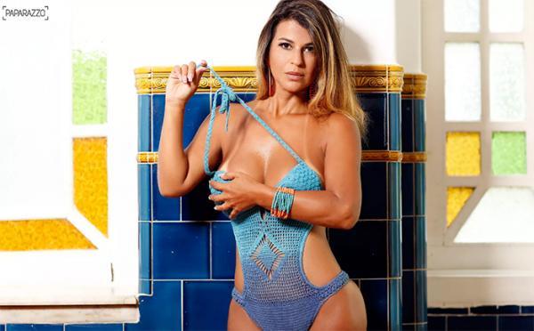 Esposa de Tiririca arrasa em ensaio sensual