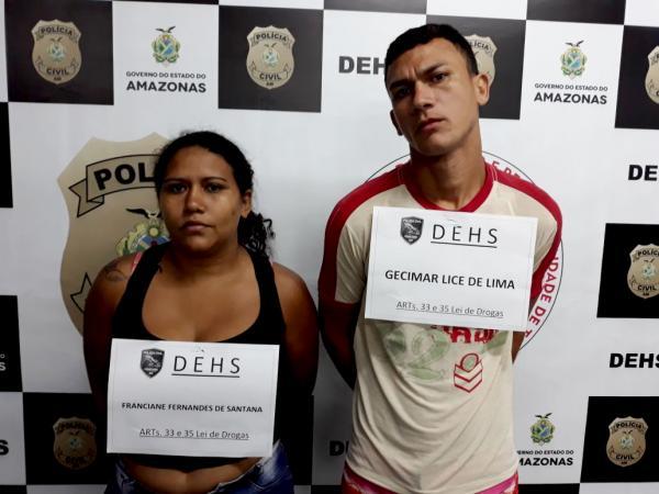 Casal é preso com 2 kg de drogas, munições e carregador de arma de fogo na Cidade Nova