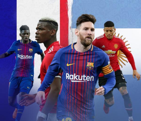 França x Argentina tem 22 jogadores que atuam juntos em clubes