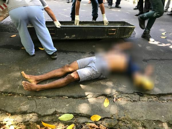 Sem cabeça, corpo de homem é encontrado no bairro Parque 10