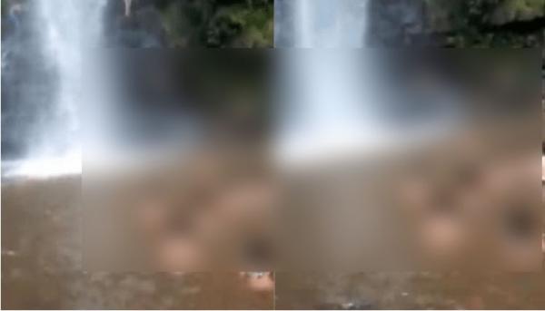 Jovem cai em cachoeira de Presidente Figueiredo ao fazer selfie