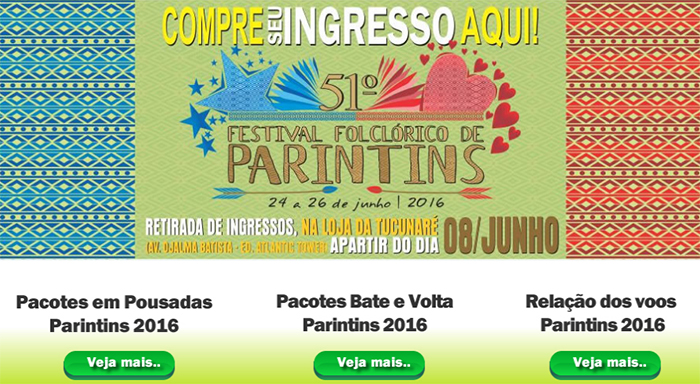 Saiba como comprar ingressos para Festival Folclórico de Parintins 2016