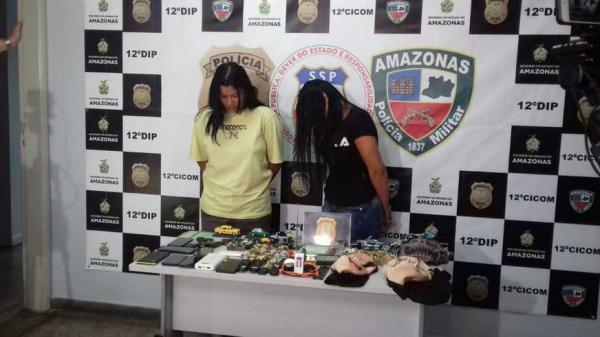Suspeitas de furtarem objetos em veículos usando 'Chapolin' são presas em Manaus