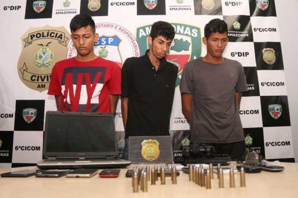 Trio suspeito de 'arrastão' na Zona Norte é preso enquanto planejava outro crime