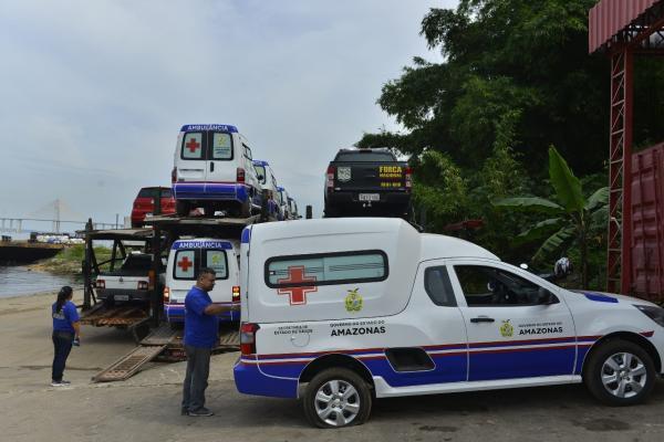 Vinte municípios do AM já estão com ambulâncias novas e até o final do mês todos receberão