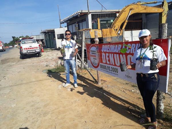 Zona Leste recebe ação educativa de combate às queimadas