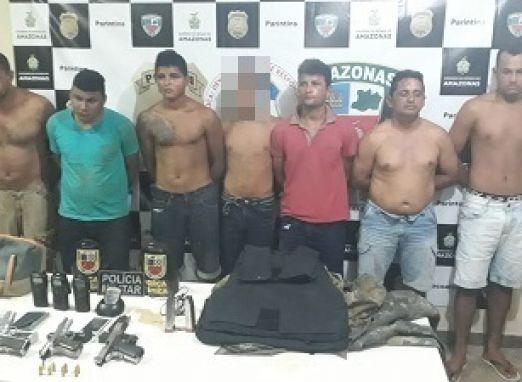 Sete integrantes da quadrilha que assaltou empresário em Boa Vista do Ramos são presos