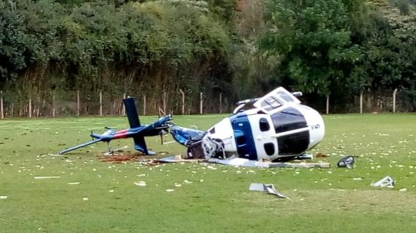 Helicóptero com o governador do ES cai; Paulo Hartung não se feriu
