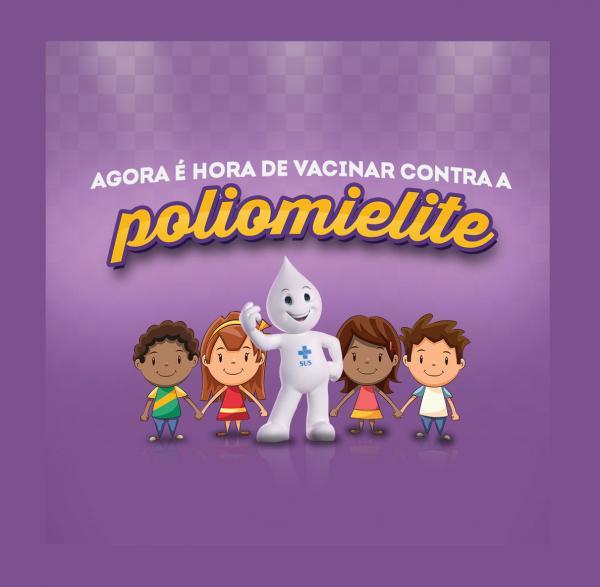 Agora é hora de se vacinar contra a Poliomielite