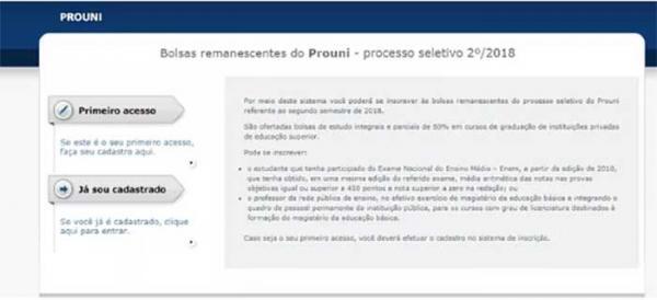 Mais de 1.300 bolsas remanescentes integrais e parciais do Prouni são ofertadas no AM