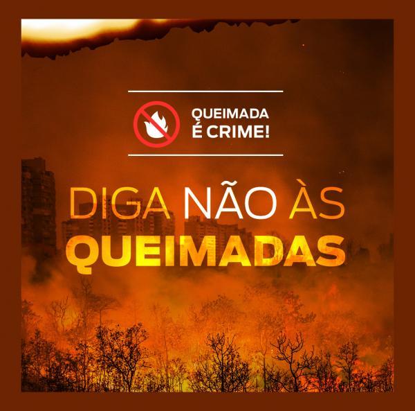Fazer queimadas é crime. Ajude a combater essa prática, denuncie!