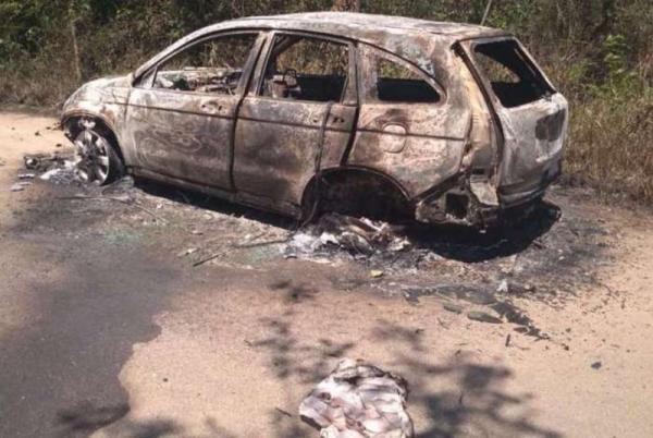 PM é sequestrado e está desaparecido; carro aparece incendiado