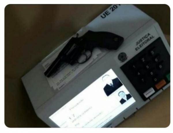 PF vai atrás de eleitores que votaram com arma e postaram vídeos