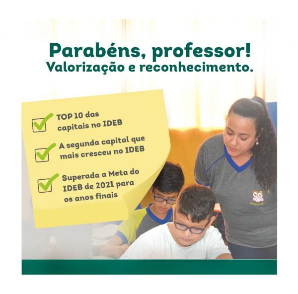 Manaus é referência em educação. Professor, parabéns por tamanha conquista!