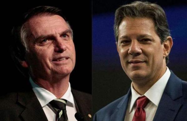 Ibope aponta larga vantagem de Bolsonaro sobre Fernando Haddad: 59% x 41%