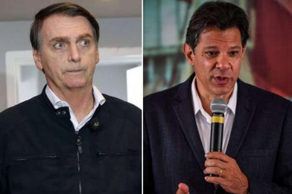 Datafolha: rejeição a Haddad é de 54% e a Bolsonaro 41%