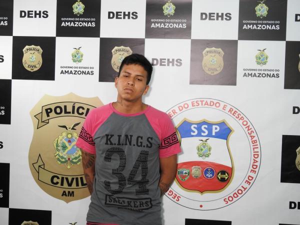Polícia Civil prende jovem suspeito de matar homem no Centro de Manaus por ordem de facção
