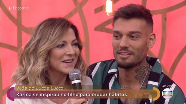 Lucas Lucco inspira corpo sarado de sua mãe: 'Gata, né?'
