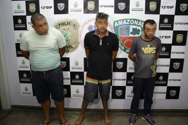 Trio é preso por tentativa de assalto em casa de câmbio em Manaus