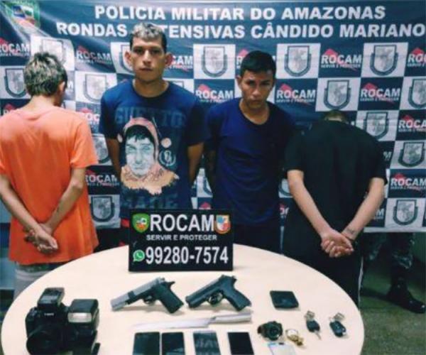 Quase 20 pessoas são presas e 3 adolescentes apreendidos em Manaus