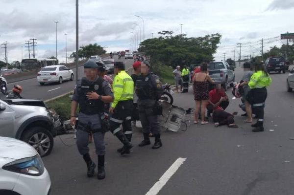 Sob chuva, Manaus registra três acidentes de trânsito nesta sexta (14)