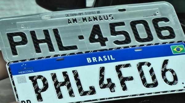 Mais de 10 mil veículos recebem nova placa do Mercosul no Amazonas