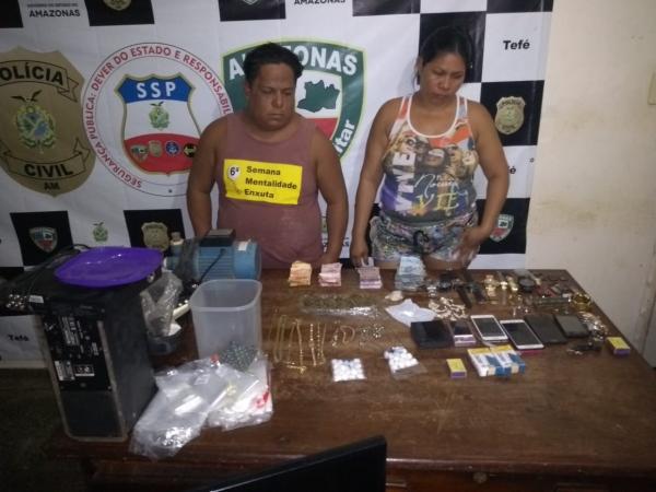 Polícia Militar detém dupla suspeita de tráfico de drogas em Tefé