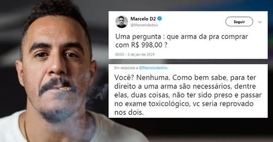 Marcelo D2 tenta 'lacrar' em cima de Bolsonaro e leva resposta de capitão da PM