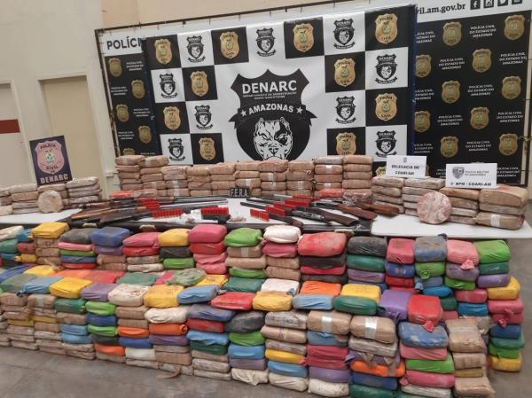 'Pirata do rio' é preso com 400 quilos de drogas no Amazonas
