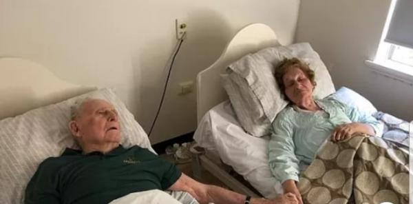 Após 70 anos juntos, casal morre de mãos dadas com minutos de diferença