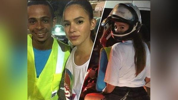 Mototaxista que levou Bruna Marquezine relata surpresa na corrida: 'Nem conseguia olhar direito para ela'