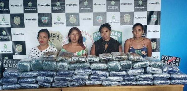Polícia detém quatro mulheres que transportavam drogas no AM