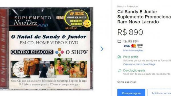 CDs de Sandy e Junior são vendidos na internet por até R$890