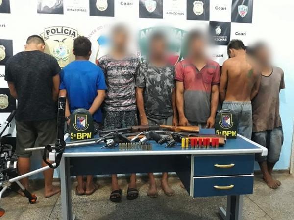 Grupo de piratas é preso com armas e munições no interior do Amazonas, diz polícia