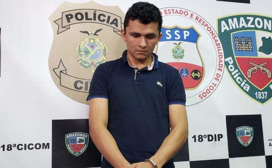O suspeito foi preso na manhã desta terça-feira, em Manaus Foto: Márcia Monteiro