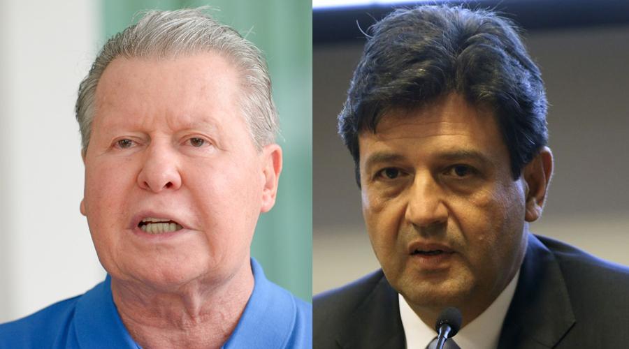 (Foto do prefeito Arthur Neto a esquerda: Alex Pazuello/Semcom) (Foto do ministro Luiz Henrique Mandetta: Wilson Dias/EBC)
