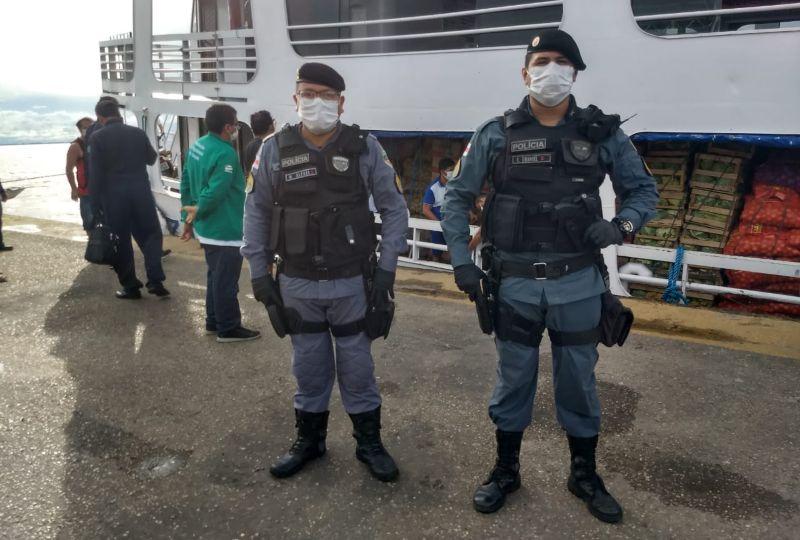 Porto de Parintins é fiscalizado para garantir cumprimento da proibição do transporte fluvial de passageiros