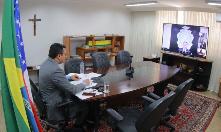 Em posse da nova presidência do TJAM, Wilson Lima valoriza diálogo entre os poderes
