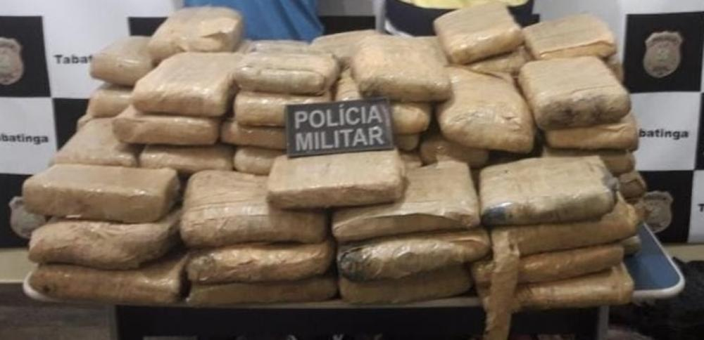 PM prende dois homens e 110 quilos de drogas no interior do AM