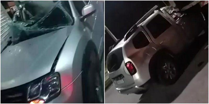 Adolescente perde controle de carro e bate em caminhão no Novo Aleixo