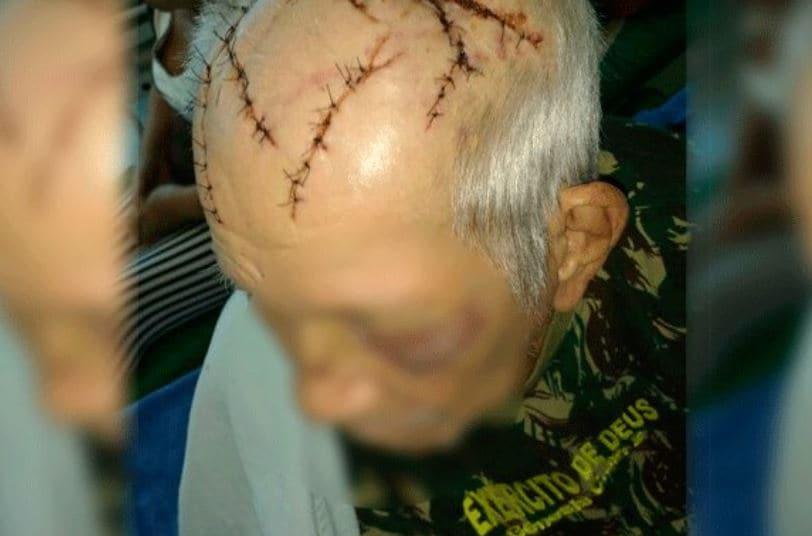 Homem que bateu em idosa com barra de ferro em agência bancária é preso em Manaus