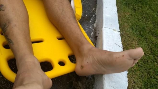 Homem despenca sobre telhado após receber descarga elétrica no Nova Cidade