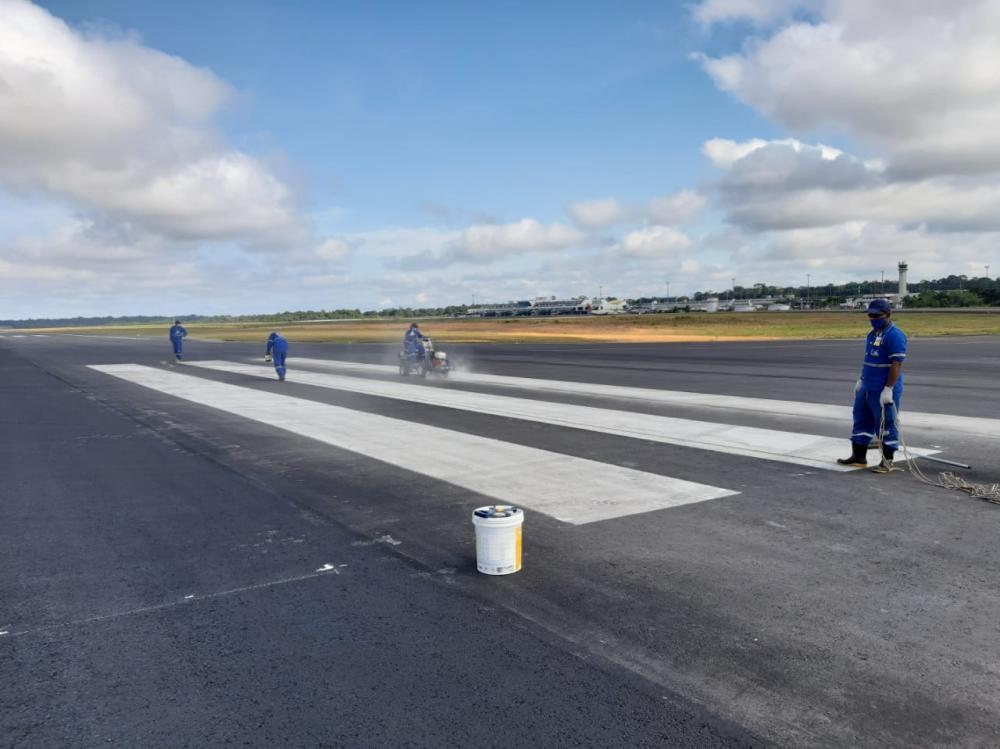 Obras na pista no aeroporto de Manaus são concluídas, afirma Infraero