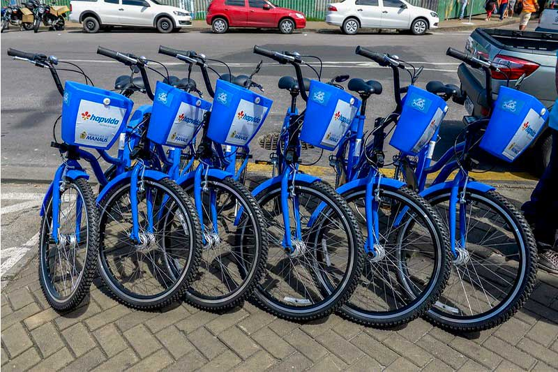 Manôbike terá bicicletas elétricas e patinetes no Centro de Manaus