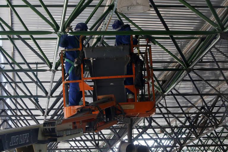 Avança obra de revitalização no Terminal de Integração da Cidade Nova