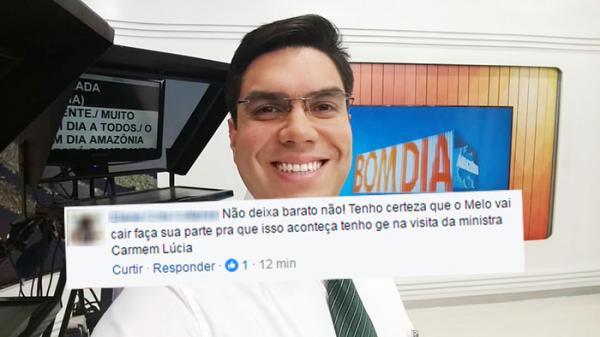 """Apresentador da TV Amazonas teria sido demitido a mando de Melo. """"Esperar o quê desse governo"""""""