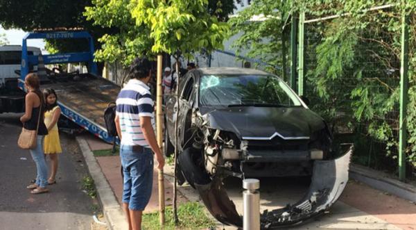 Árvores são atropeladas na Djalma Batista e condutora será responsabilizada