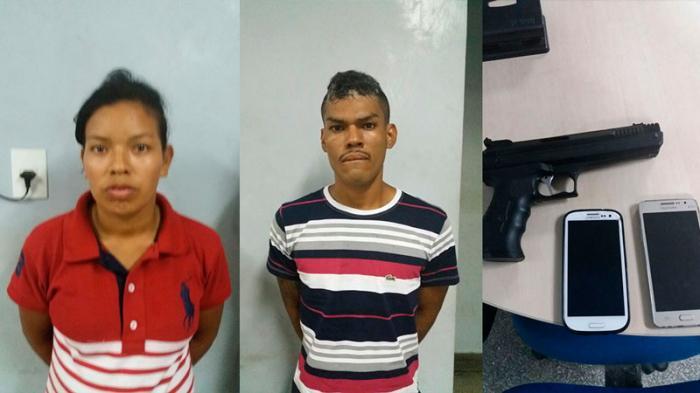 Casal é preso após arrastão na Zona Centro-Sul de Manaus