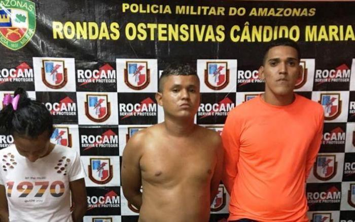 Trio é preso por suspeita de receptação e roubo de carro na Zona Norte de Manaus